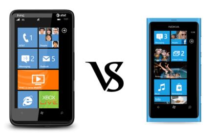 HTC HD7S vs Nokia Lumia 800: Comparación de Windows Phone