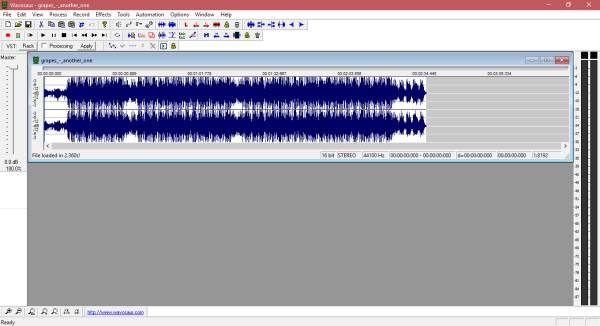 Wavosaur es un software gratuito de edición de audio para Windows
