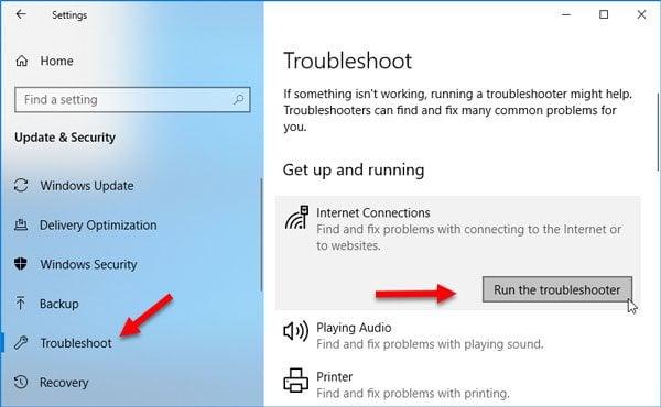Fijar No podemos alcanzar esta página de error en Microsoft Edge