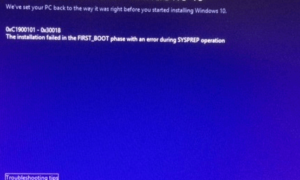 Windows 10 no se instala o actualiza: Error 0xC1900101 - 0x30018