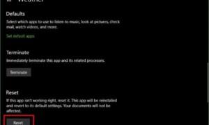 La aplicación meteorológica de Windows 10 no funciona o no se está abriendo