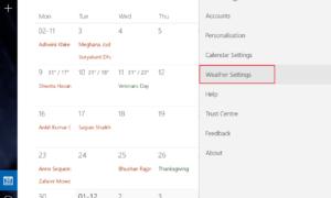 Cambiar la temperatura del calendario de Outlook de Fahrenheit a Celsius