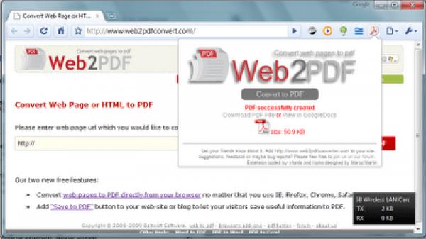 Convertir páginas web a documentos PDF con Web2PDF Converter para IE, Firefox, Chrome