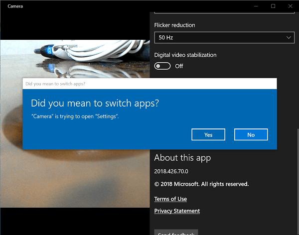 Corrección de un error en la aplicación de Windows 10 Camera 0xA00F424F (0x80004005) 3