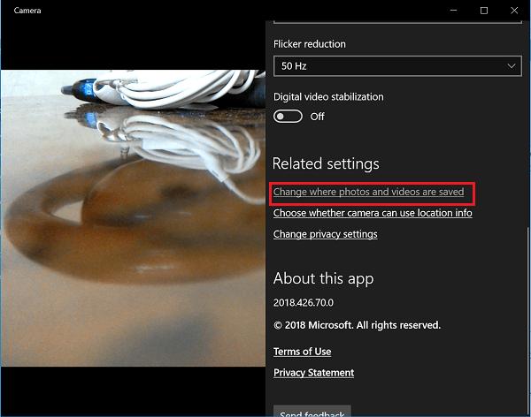 Corrección de un error en la aplicación de Windows 10 Camera 0xA00F424F (0x80004005) 2