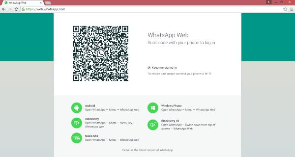 El escritorio de WhatsApp Web para Windows se ejecuta en el navegador Chrome 1