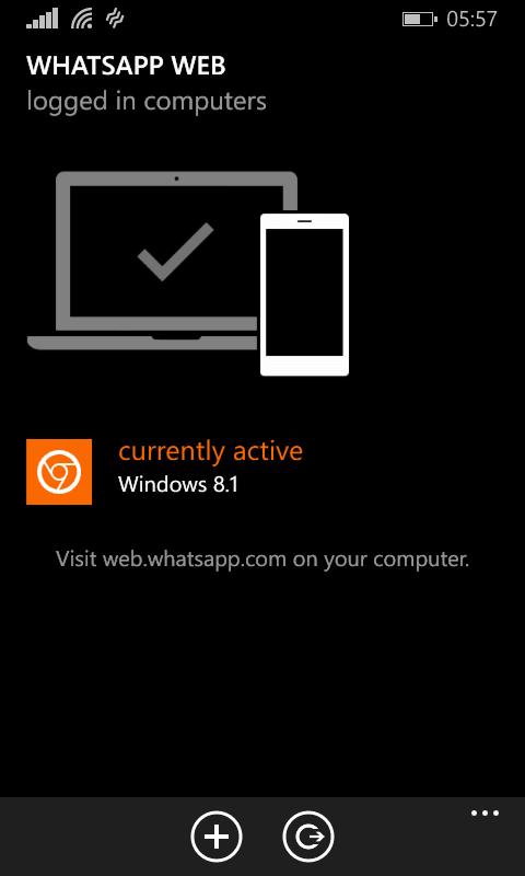 El escritorio de WhatsApp Web para Windows se ejecuta en el navegador Chrome 3