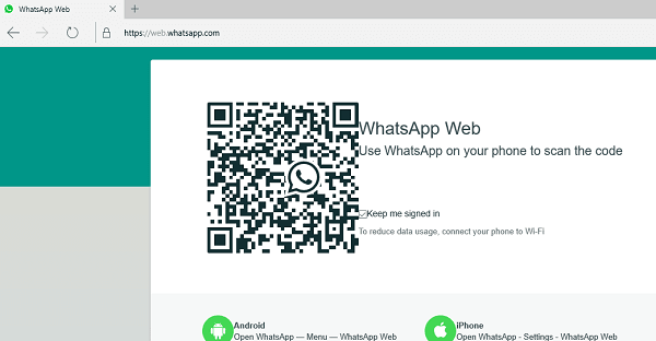 Cómo utilizar WhatsApp en el navegador Edge en Windows 10