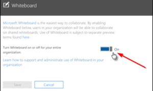Cómo habilitar Microsoft Whiteboard para Office 365