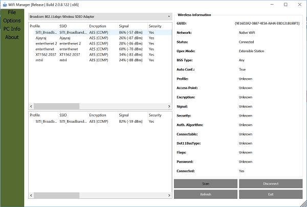 Administrar y auditar las conexiones de red inalámbrica CobraTek Wi-Fi Manager 1