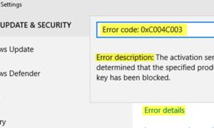 Solucionar errores de activación de Windows 10: Listar o códigos de error y correcciones