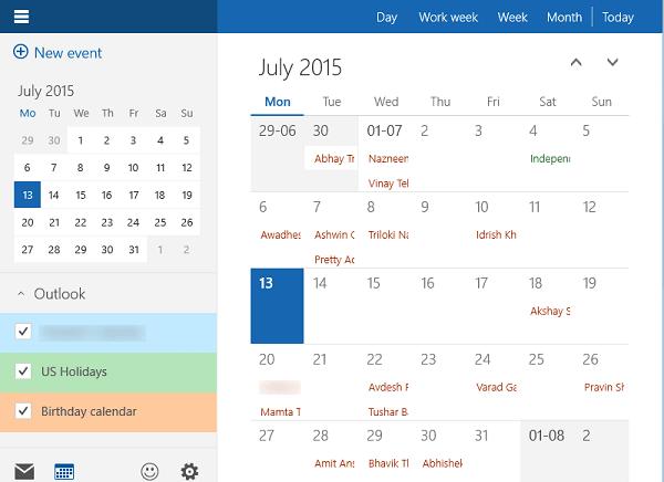 Cómo usar la aplicación Calendario de Windows 10 1