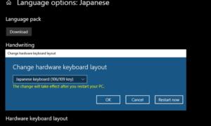Cómo instalar el teclado japonés en Windows 10