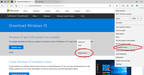 Cómo descargar Windows 10 ISO sin usar Media Creation Tool 1