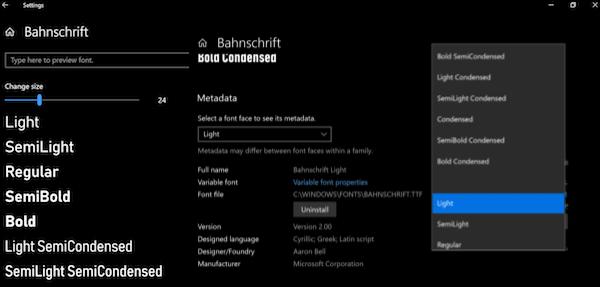 Configuración de fuentes de Windows 10: Cómo descargar fuentes del Microsoft Store 2