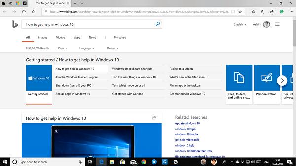 Obtenga ayuda en Windows 10 de forma continua.