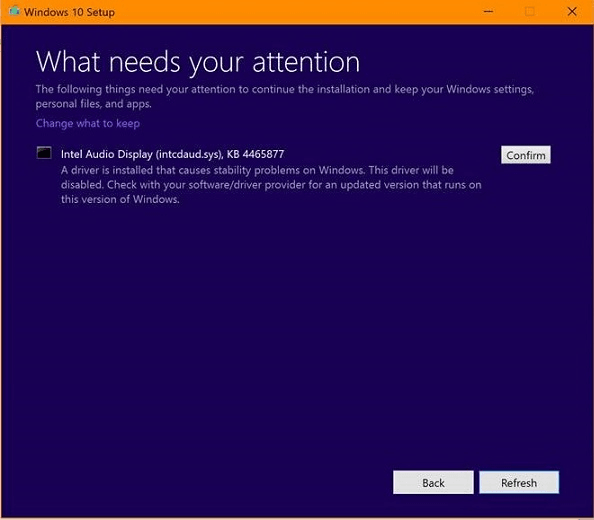 Lo que necesita su atención - Notificación de configuración de Windows 10