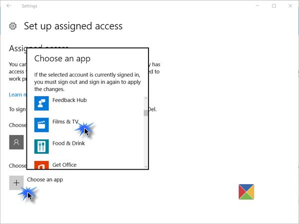 Configuración de Windows 10 en modo quiosco con acceso asignado 3