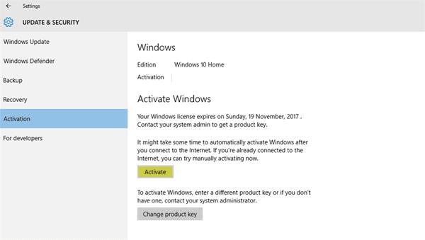 ¿Cuánto tiempo puede usar Windows 10 sin la activación?