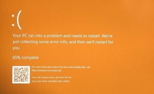 Cómo arreglar Windows 10 Orange Screen of Death