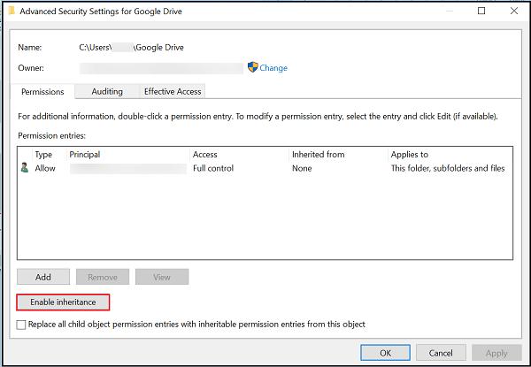Windows 10 Search no encuentra archivos de la unidad de Google