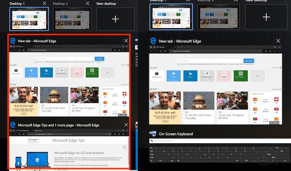 Cómo usar la característica Timeline en Windows 10