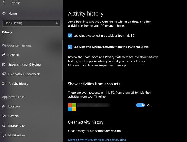 Cómo usar la característica Timeline en Windows 10 3