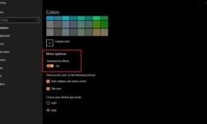 Cómo cambiar la configuración de Transparencia en Windows 10