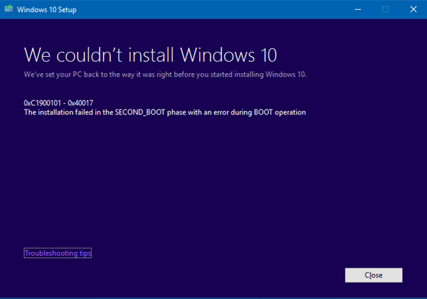 Códigos de error y soluciones de Windows 10 Upgrade