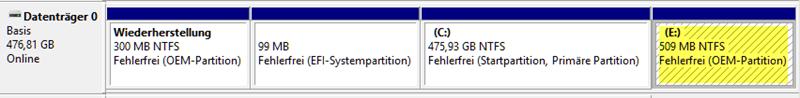 Corrección: Windows 10 v1803 crea una partición de disco adicional