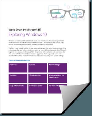 Libro electrónico gratuito de Windows 10 de Microsoft: Conozca Windows 10 y sus características