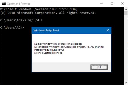Cómo saber si la licencia de Windows 10 es OEM, minorista o por volumen (MAK/KMS)