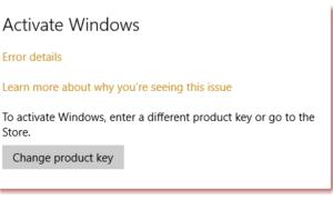 No se puede activar Windows 10. Llave de producto bloqueada.