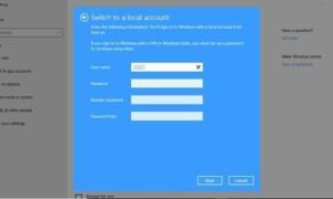Quitar u omitir las preguntas de seguridad al configurar una cuenta de usuario local en Windows 10