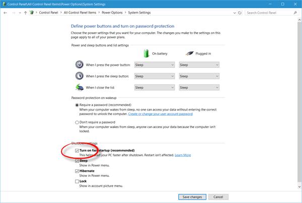 Windows 10 se reinicia después de seleccionar el apagado 2
