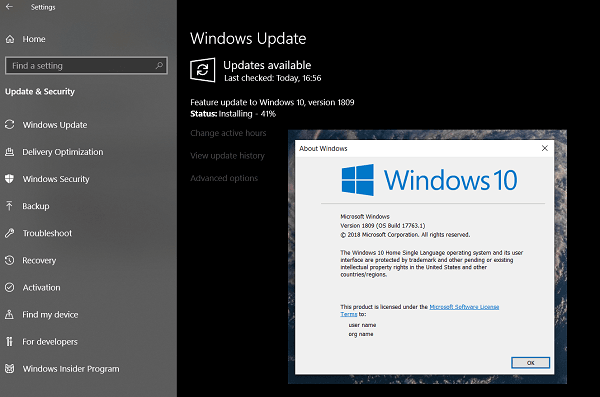 Windows 10 October 2018 Update v1809 - Problemas y problemas comunicados 4