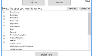 Cómo realizar copias de seguridad y restaurar datos de aplicaciones en Windows 8