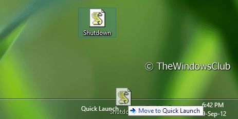 Crear un acceso directo para abrir el cuadro de diálogo Cerrar de Windows en Windows 10 / 8 / 7 4