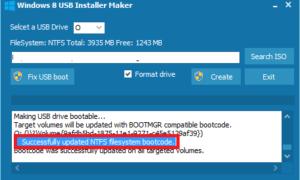 Crear una unidad flash USB de Windows 8 de arranque con Windows 8 USB Installer Maker