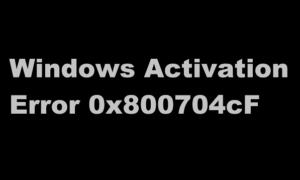 Debe utilizar una clave de producto válida para activar Windows - 0x800704cF