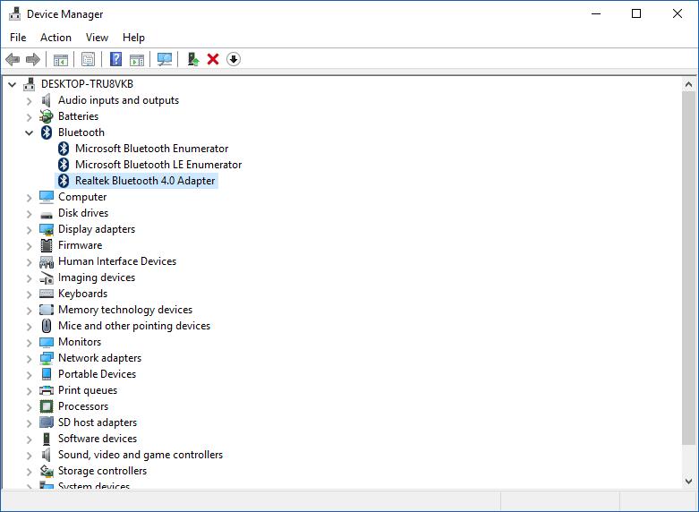 Corrección de problemas de conectividad de los dispositivos Bluetooth LE en Windows 10