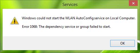 Windows no pudo iniciar el servicio WLAN AutoConfig en Windows 2