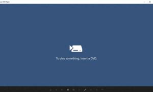 Lanzamiento de la aplicación Windows DVD Player para Windows 10