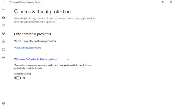 Centro de seguridad de Windows Defender en Windows 10 3