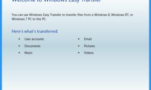 Windows Easy Transfer Actualmente está conectado usando un error de perfil temporal
