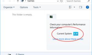 Índice de experiencia de Windows en Windows 8.1/10
