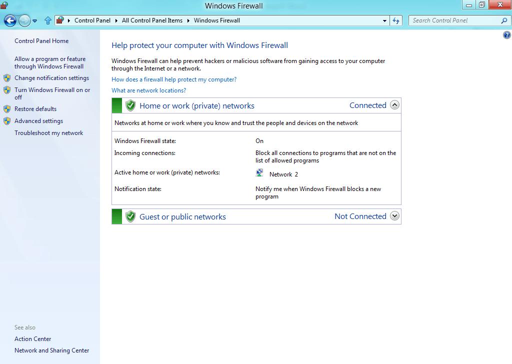 El Firewall de Windows no puede cambiar algunas de sus configuraciones