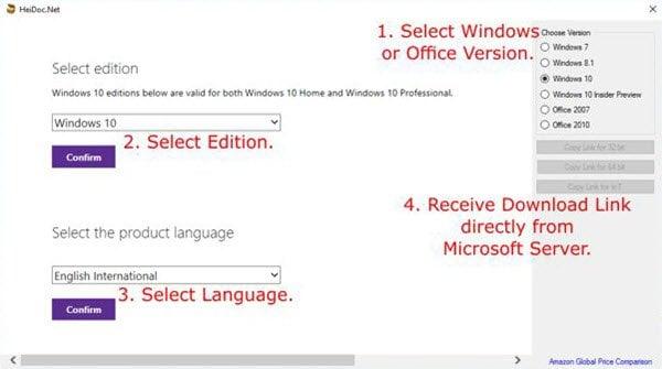 Descargue imágenes originales de Windows y Office ISO Disc de Microsoft