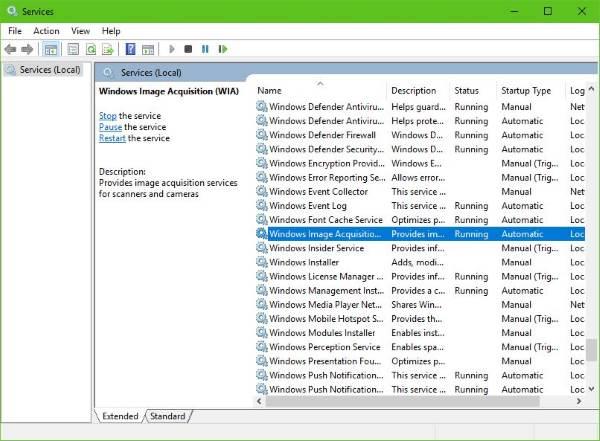 El escáner no funciona en Windows 10 2