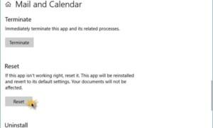 La aplicación Windows 10 Mail and Calendar no se imprime